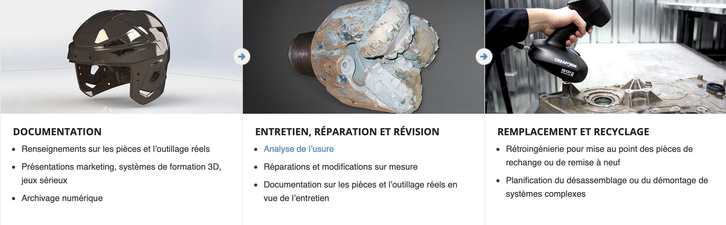 Creaform GOscan 3D Entretien