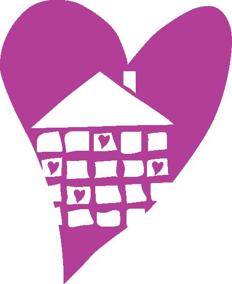 A House In Austin House Heart Logo