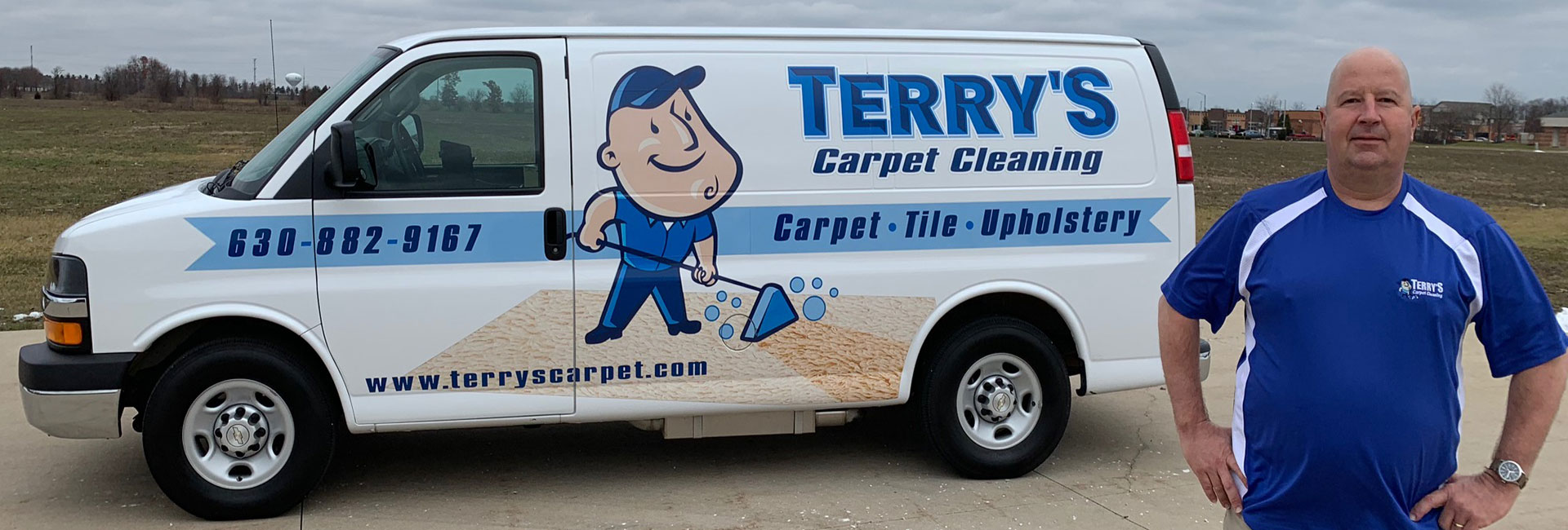 Terry VanCura, owner of Terry's Carpet Cleaning