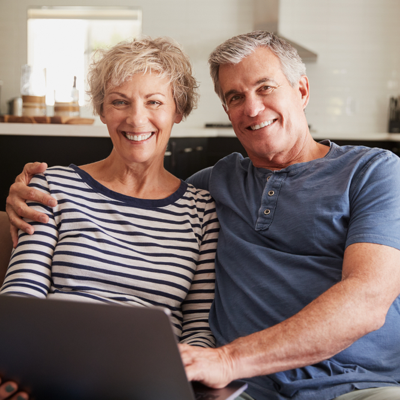 old couple booking an online lab collection service