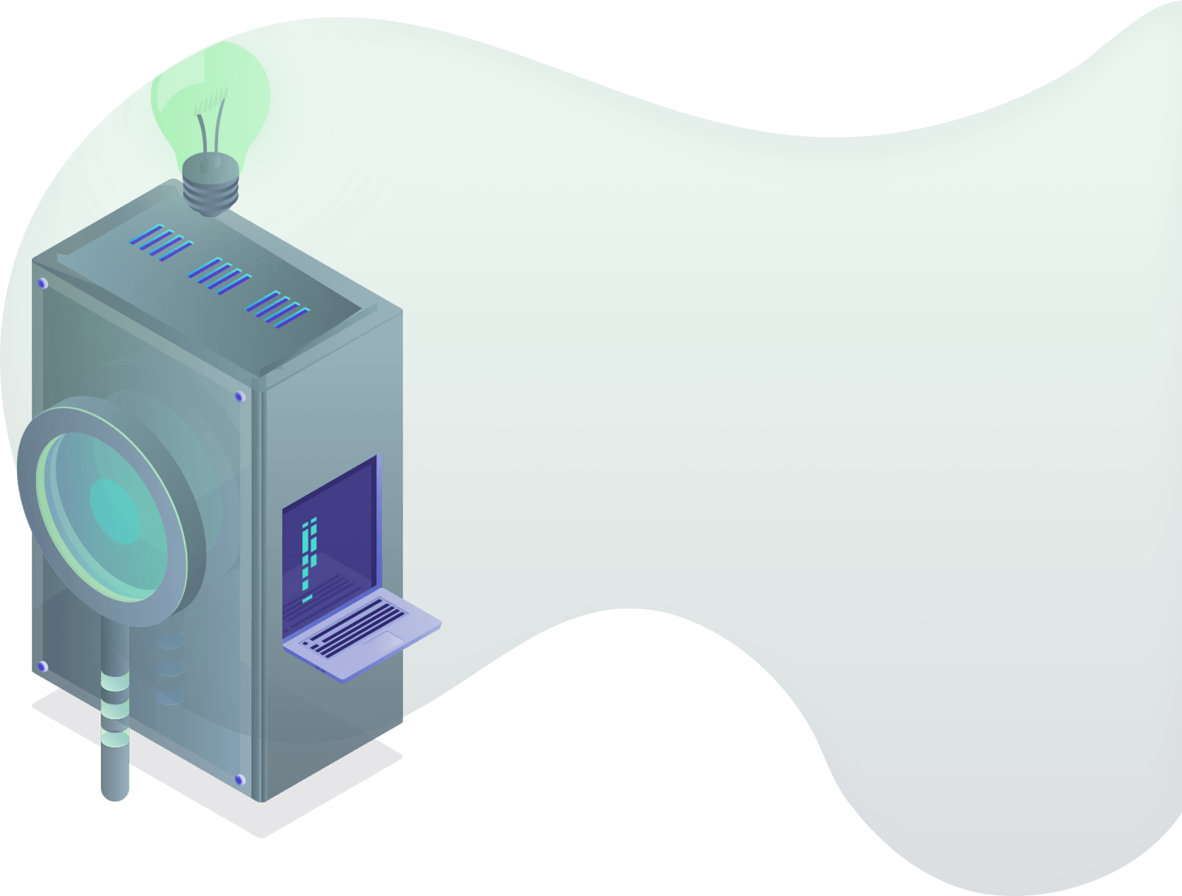 illustration of a cloud data server