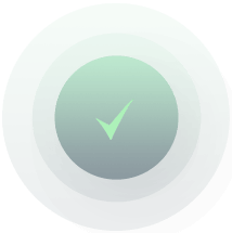 green check mark icon in a circle