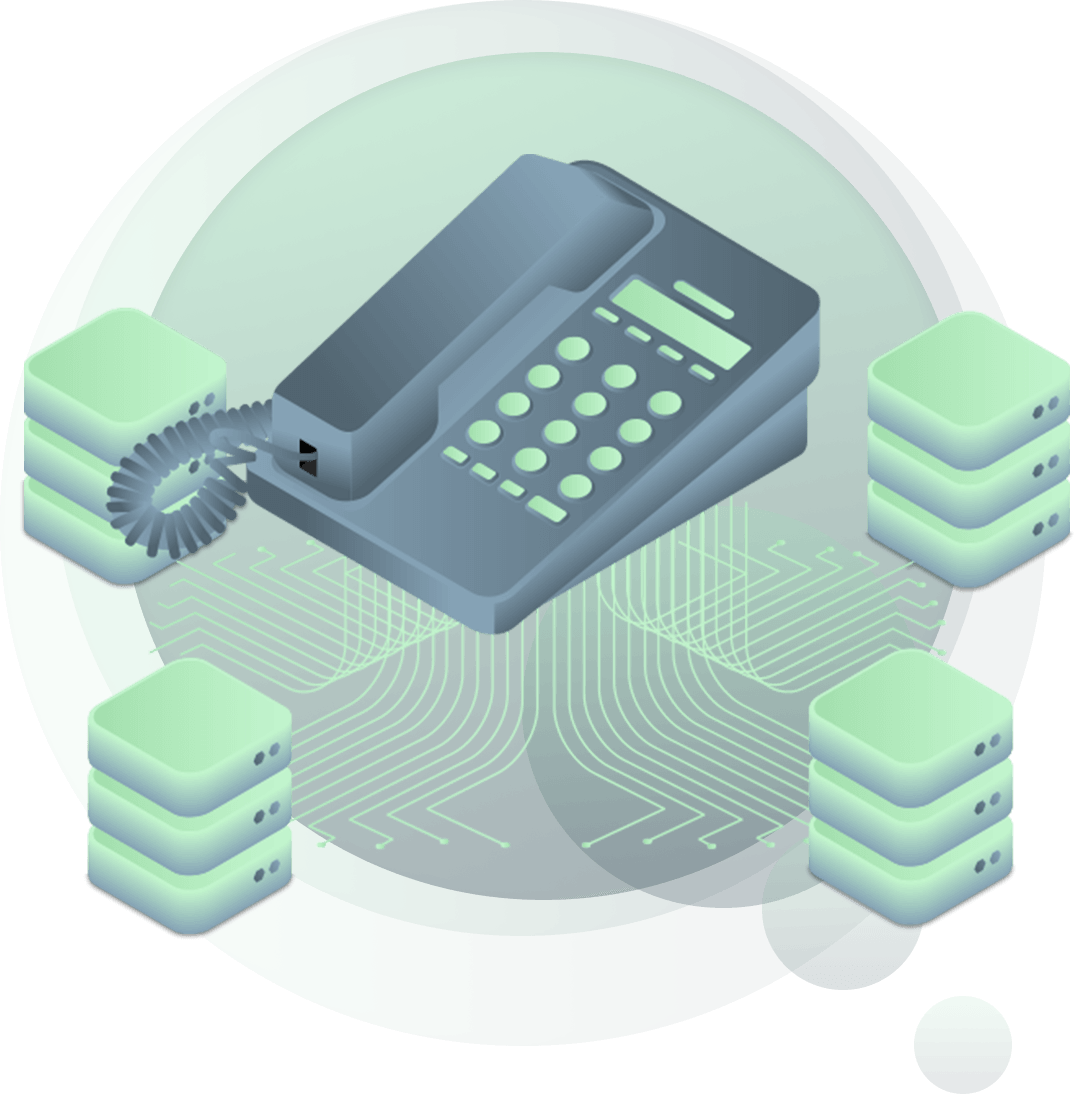 illustration of premise phone systems for businesses