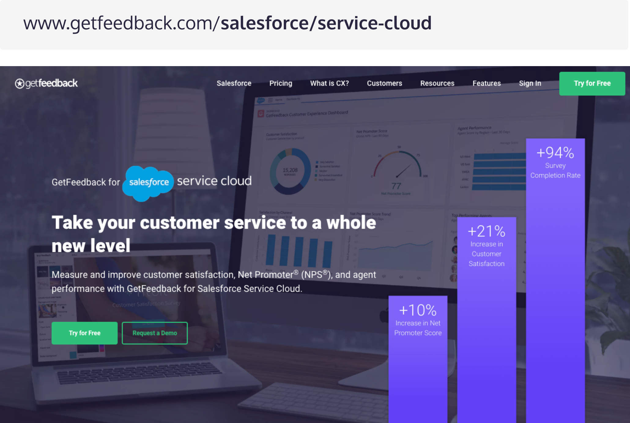Product Pages B2B Lead Generation - GetFeedback