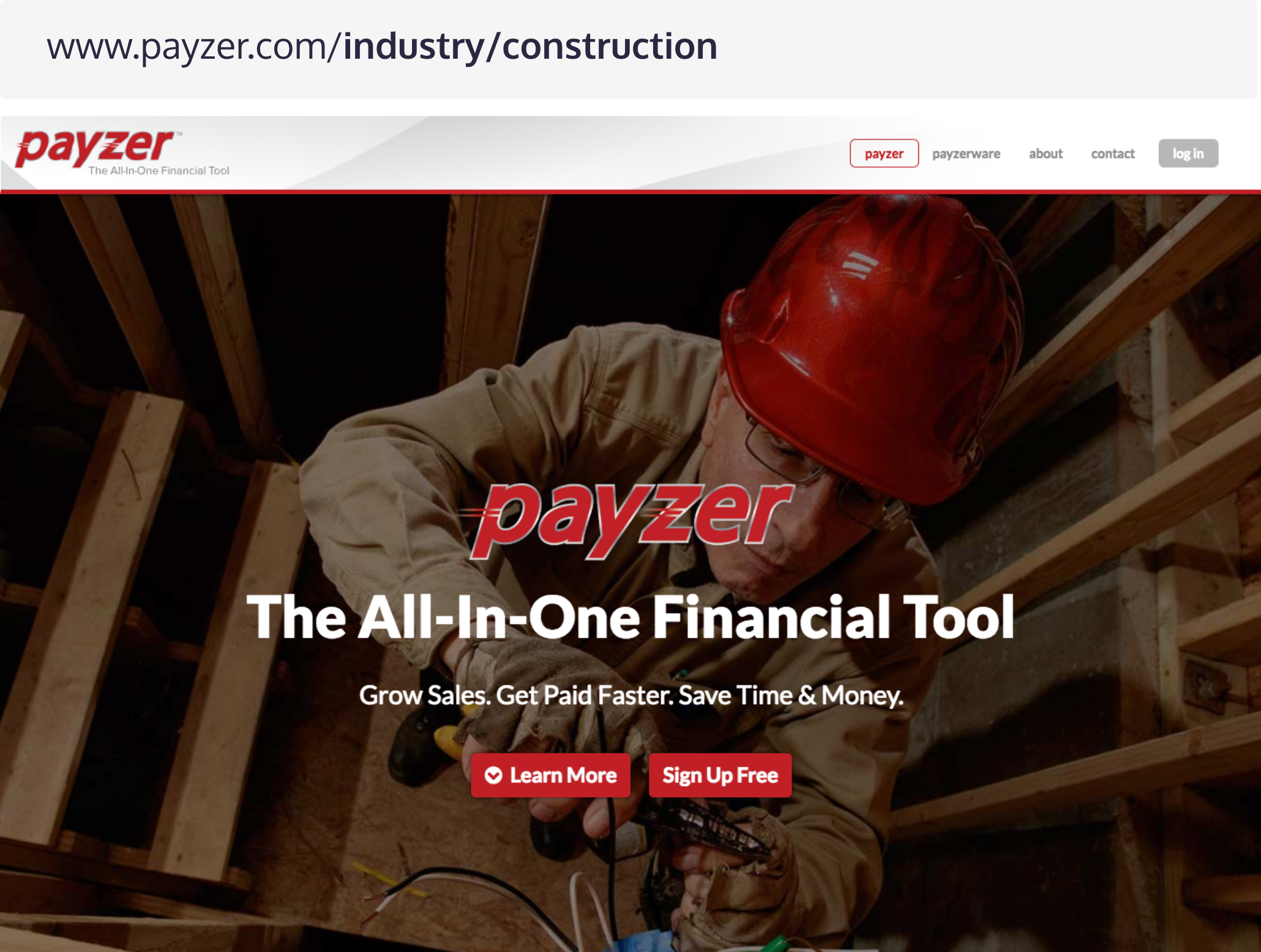 Industry Web Pages B2B Lead Generation - Payzer