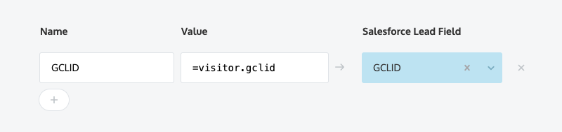 Tracking Google's GCLID parameter as a hidden field and mapping to Salesforce
