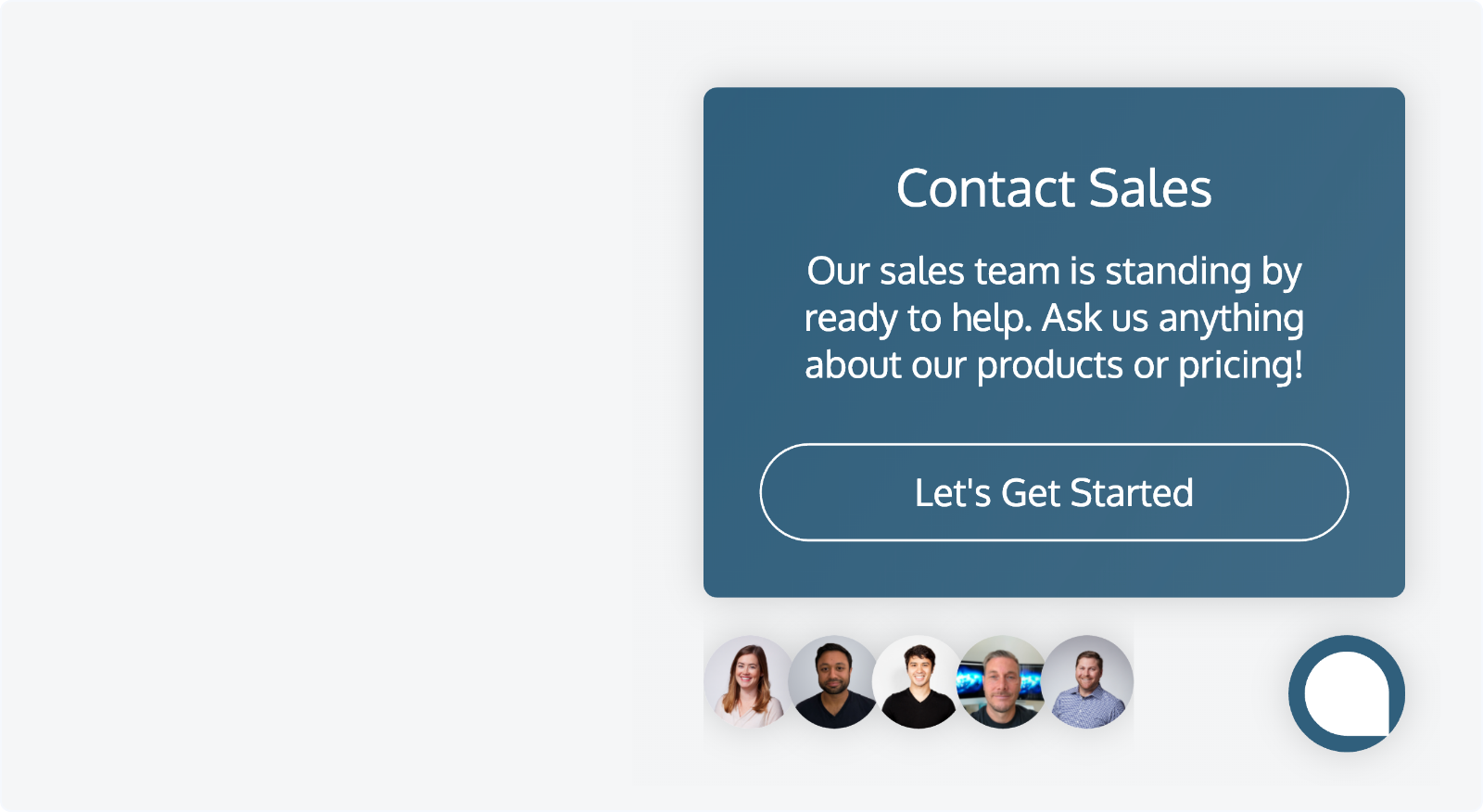 LeadBot presents an offer to connect with your sales team