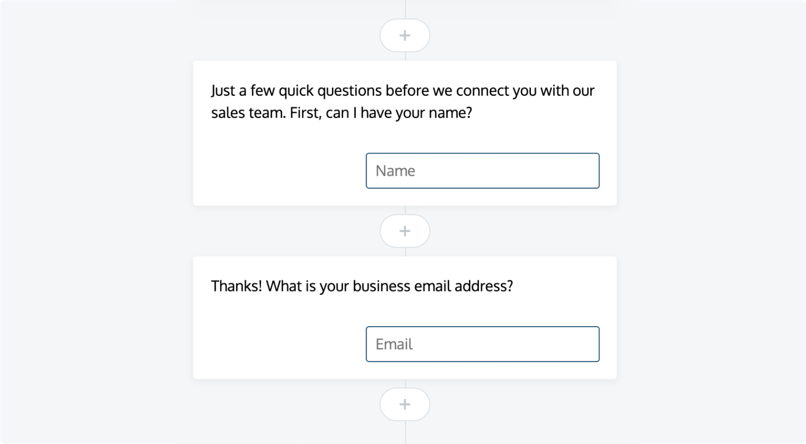 LeadBot: Customizing qualification questions