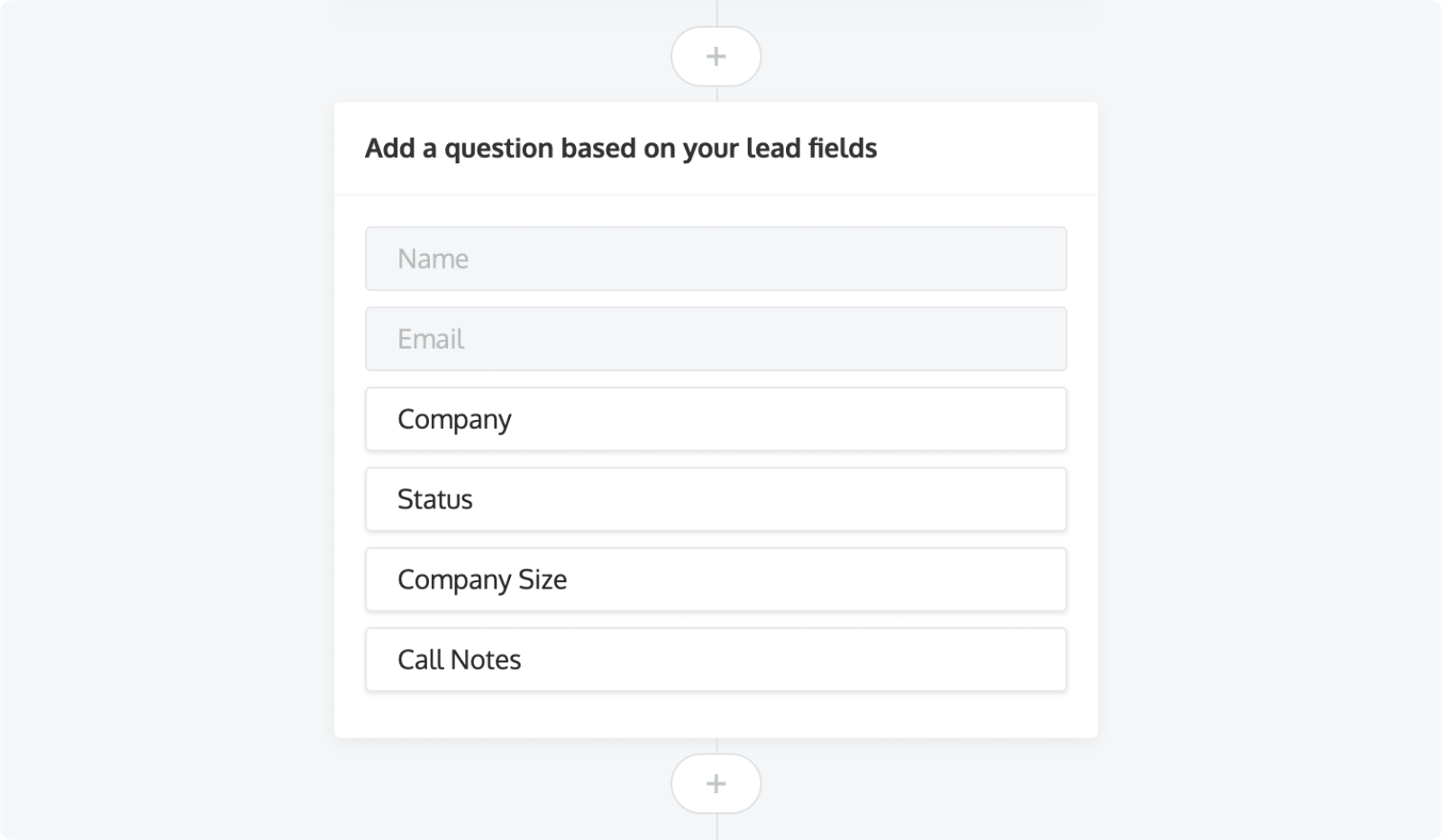 LeadBot: Creating a new qualification question