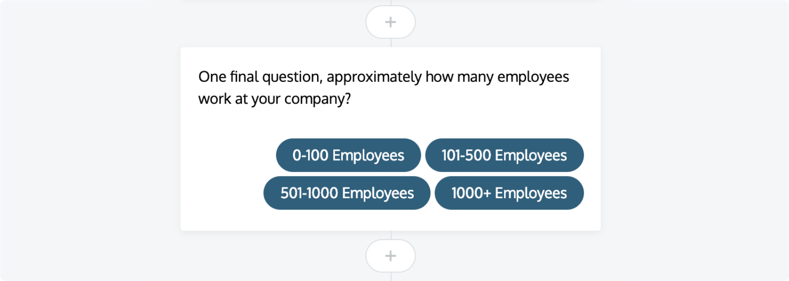 LeadBot: Customizing a new qualification question