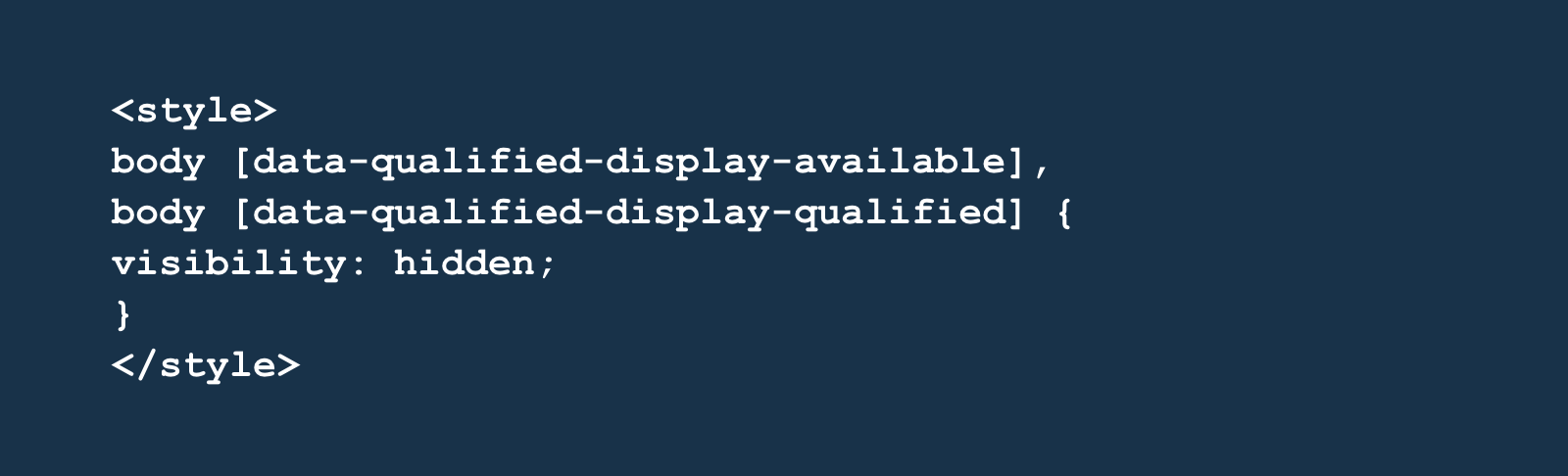 A tweak to your CSS initially hides the button on page load
