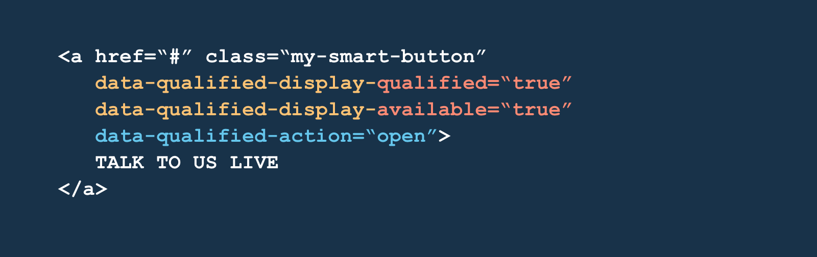 Adding an action to have your smart button launch the Qualified messenger