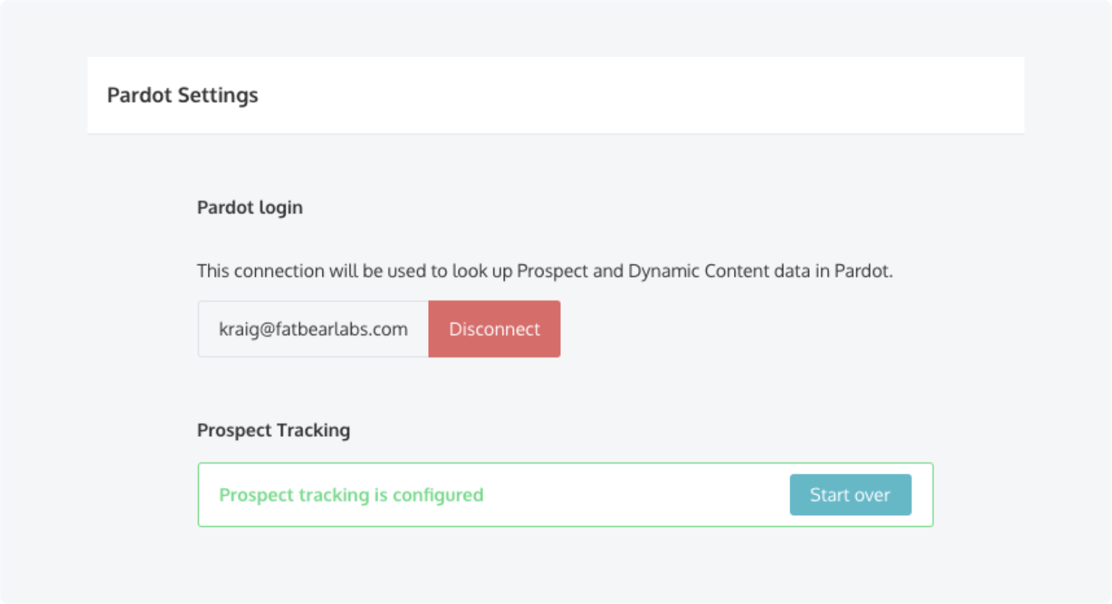 Success! Qualified for Pardot prospect tracking configured