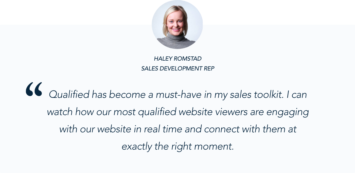 ThoughtSpot Sales Development Rep Haley Romstad on Qualified's Conversational Marketing solution