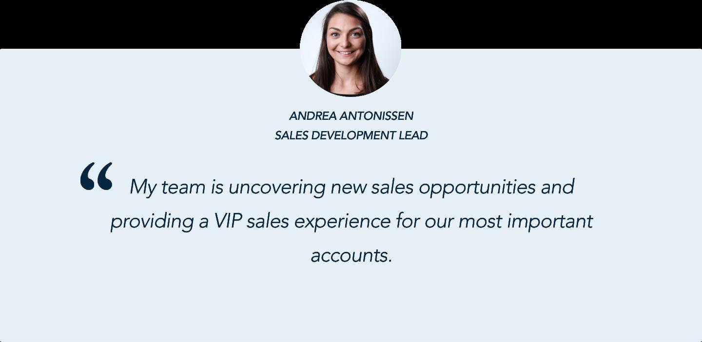 Andrea Antonissen, Sales Development Lead, on Qualified's Conversational Marketing Solution