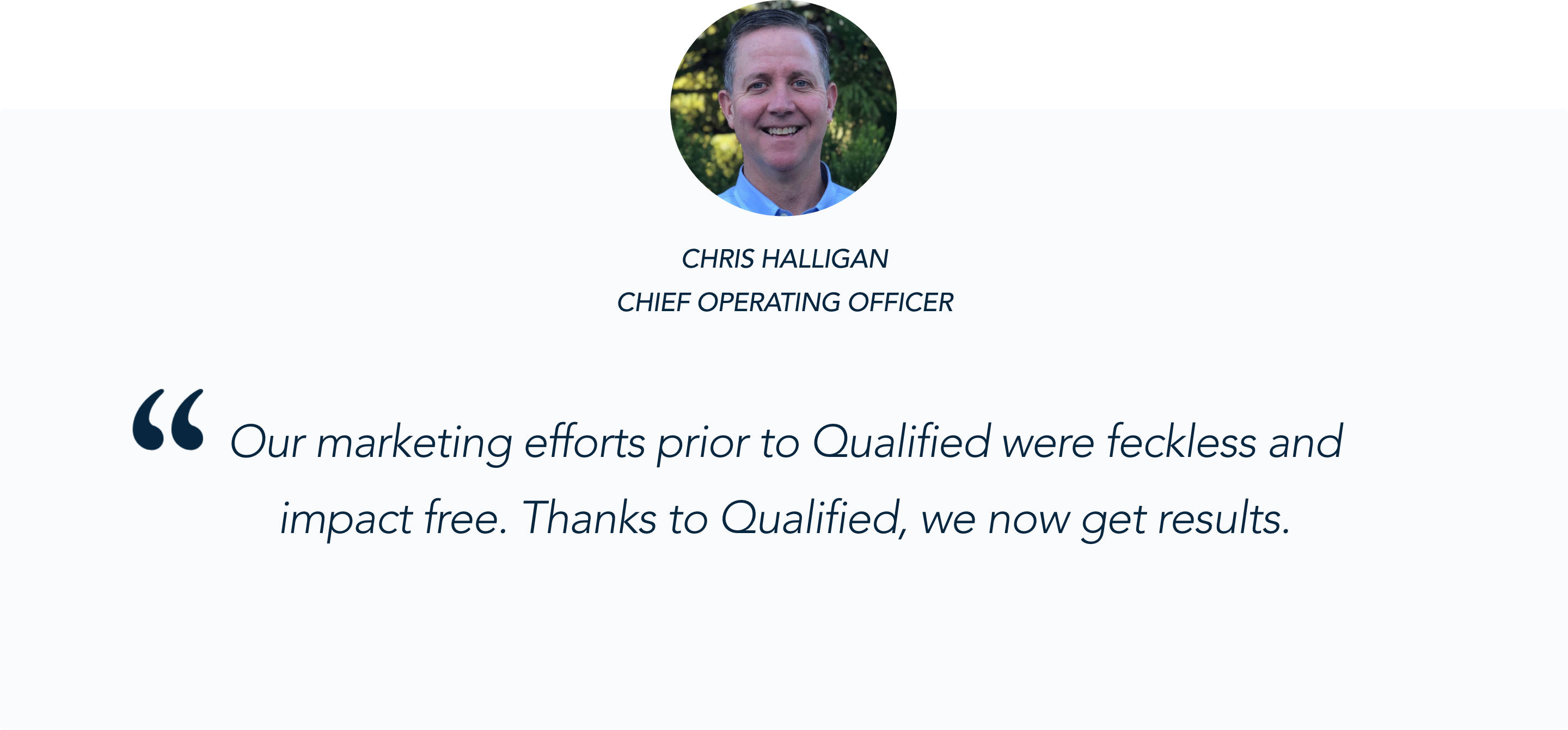 Payzer COO Chris Halligan on the power of Qualified's Conversational Marketing Solution