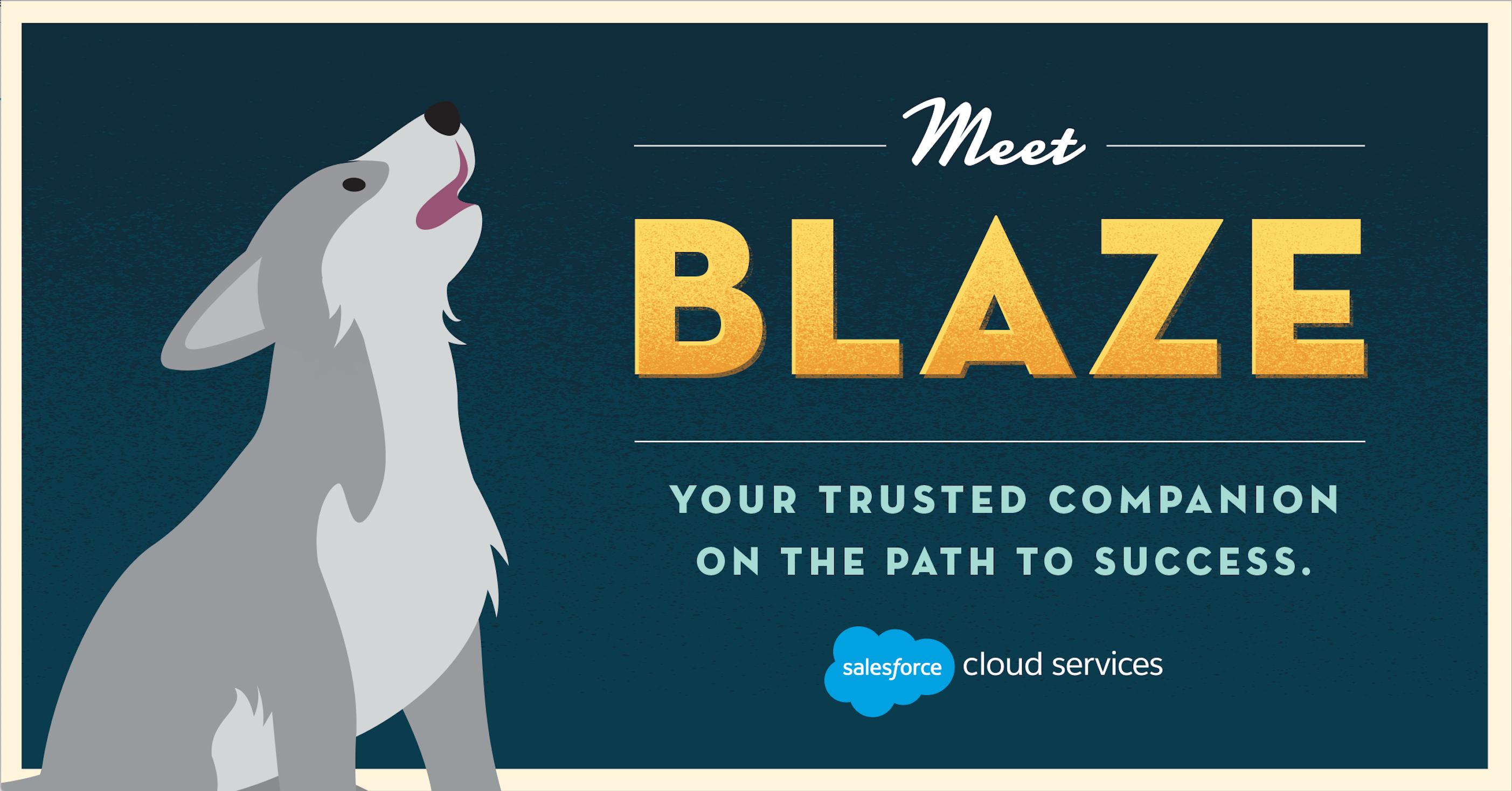Salesforce Pardot Mascot Blaze