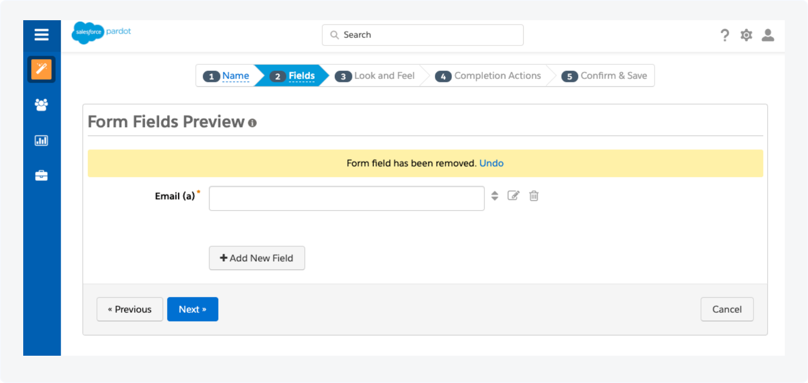 Creating a Pardot Form to Track Qualified Conversations as Activities Step 3
