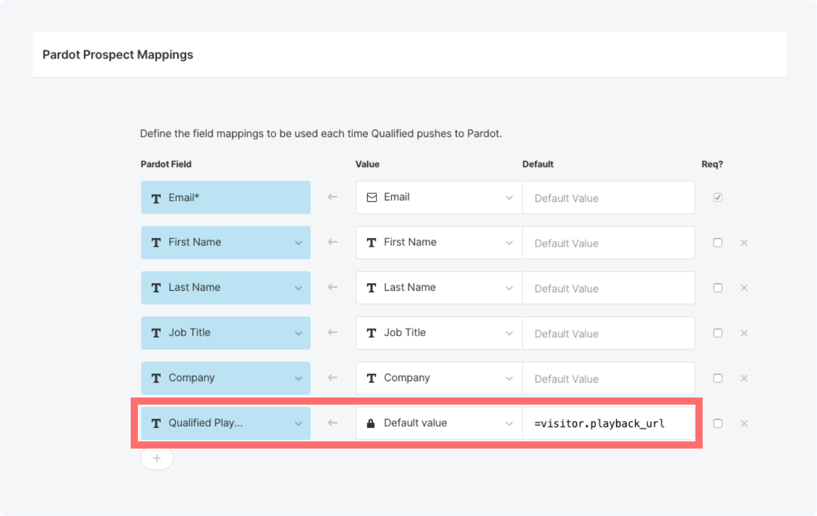 Setting a the playback URL automatically in Qualified