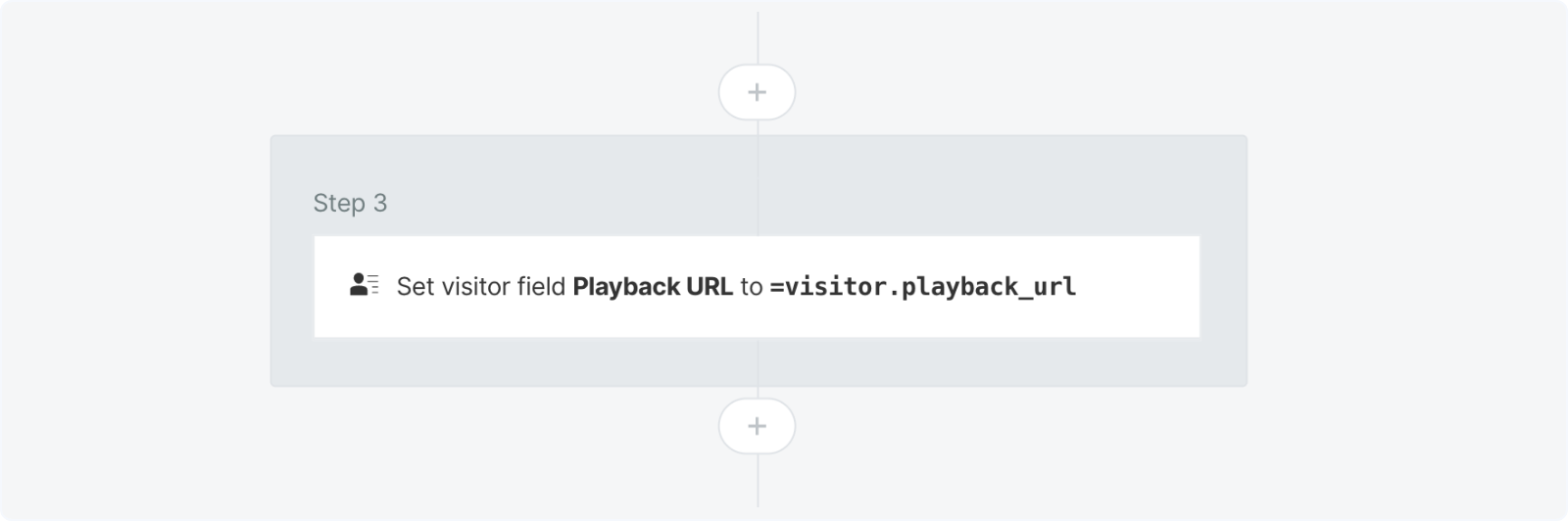 Optionally setting the playback URL in a Qualified experience