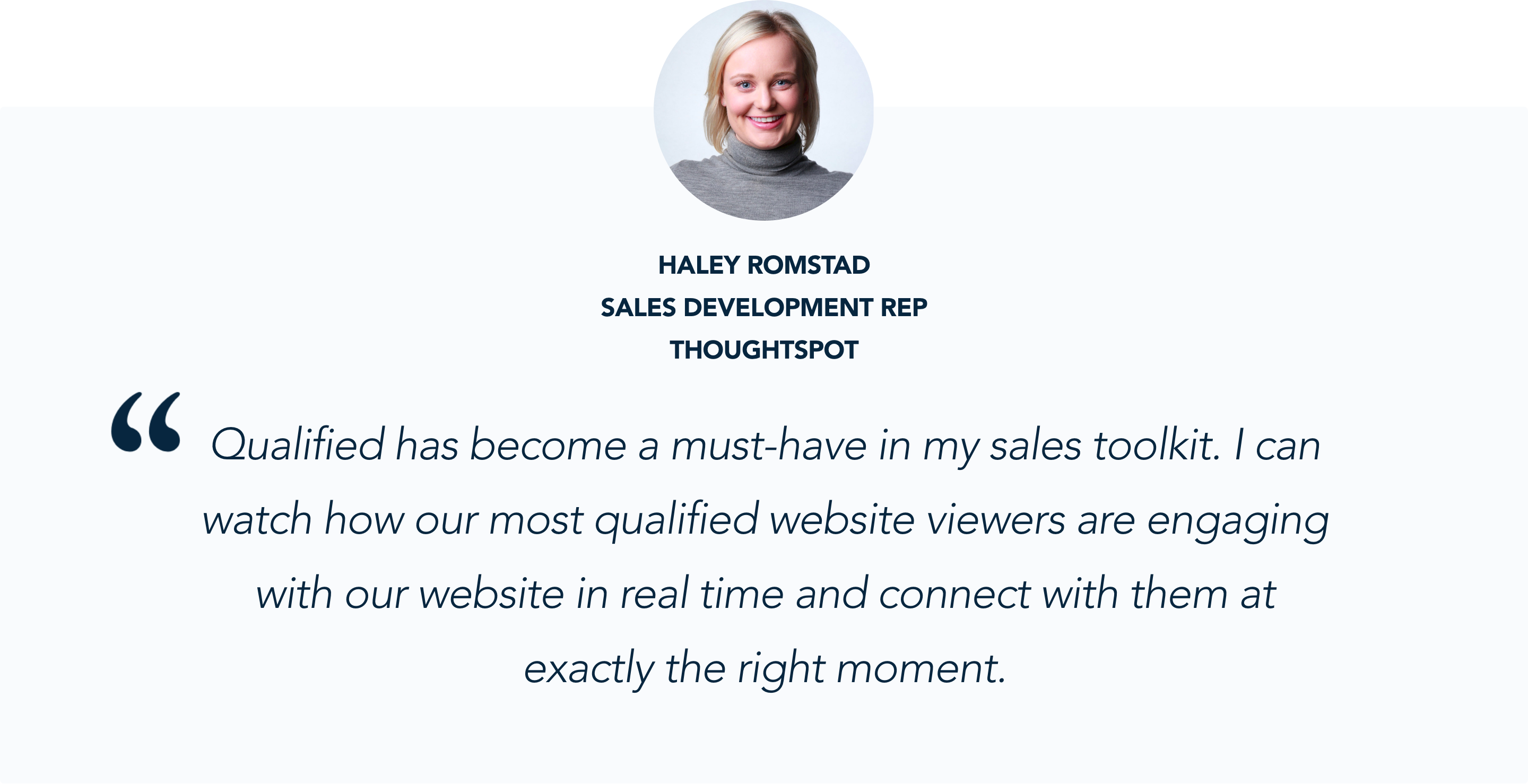 Haley Romstad, ThoughtSpot, on Conversational Marketing