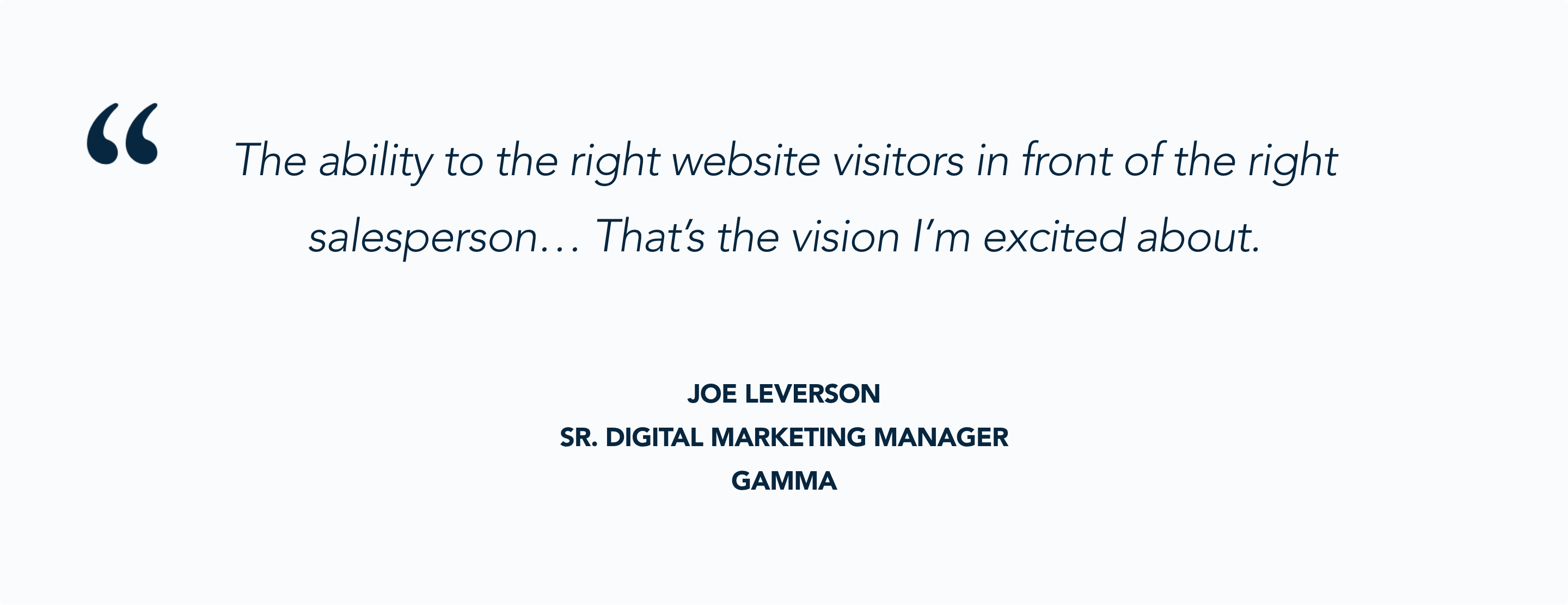 Joe Leverson on using routing to power timely website conversations
