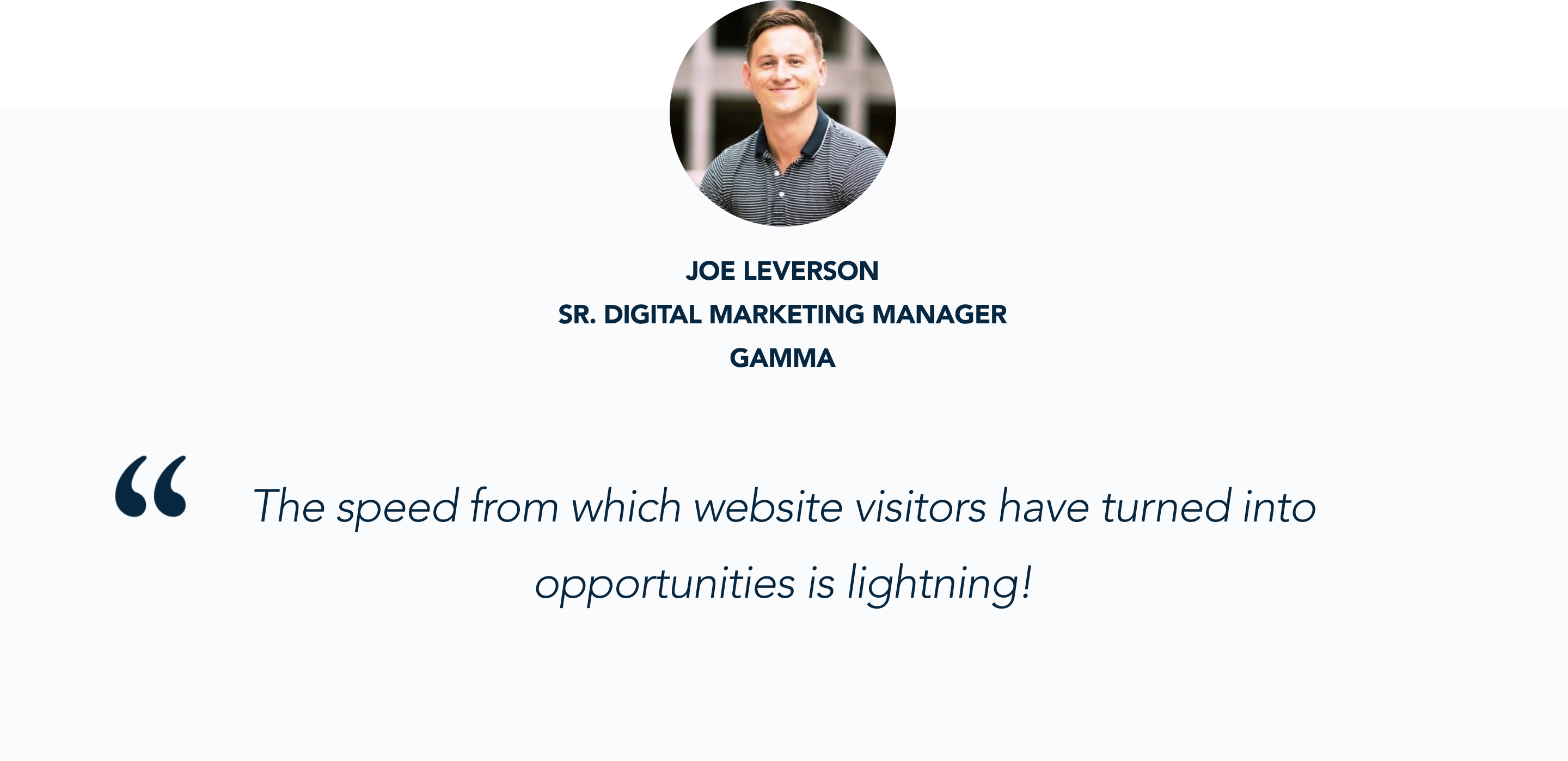 Joe Leverson shares his experience with Qualified's Conversational Marketing solution