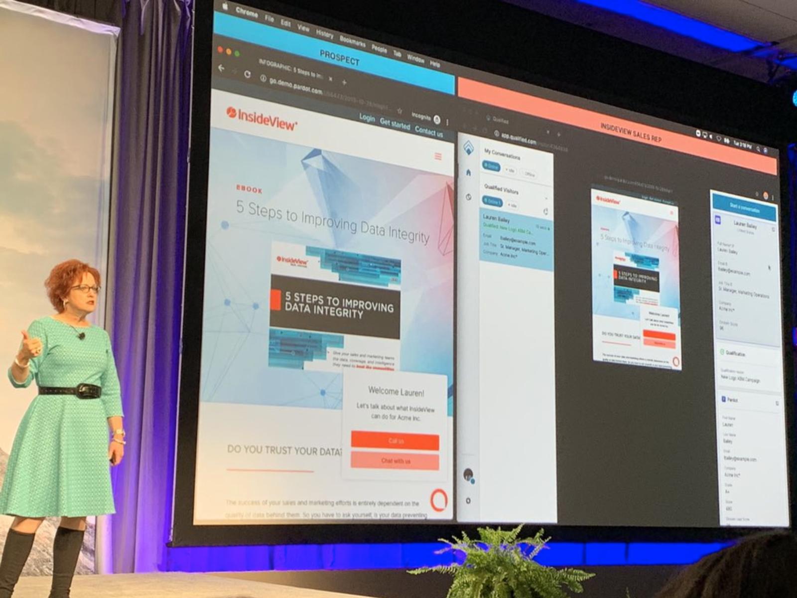Dreamforce B2B Marketing Keynote: InsideView Demos Qualified for Salesforce Pardot
