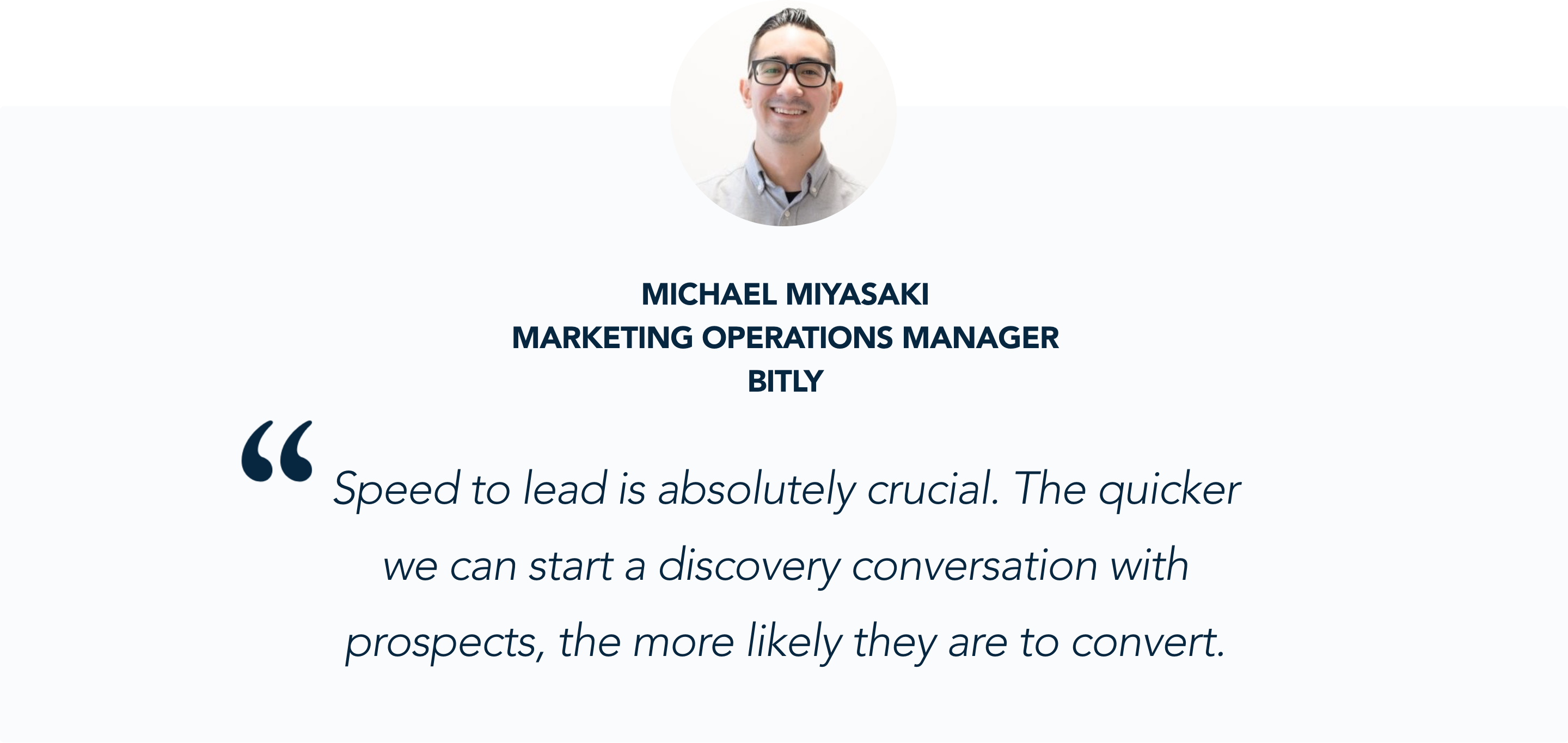 Michael Miyasaki, Marketing Operations Manager at Bitly, shares his experience with Qualified's conversational marketing platform