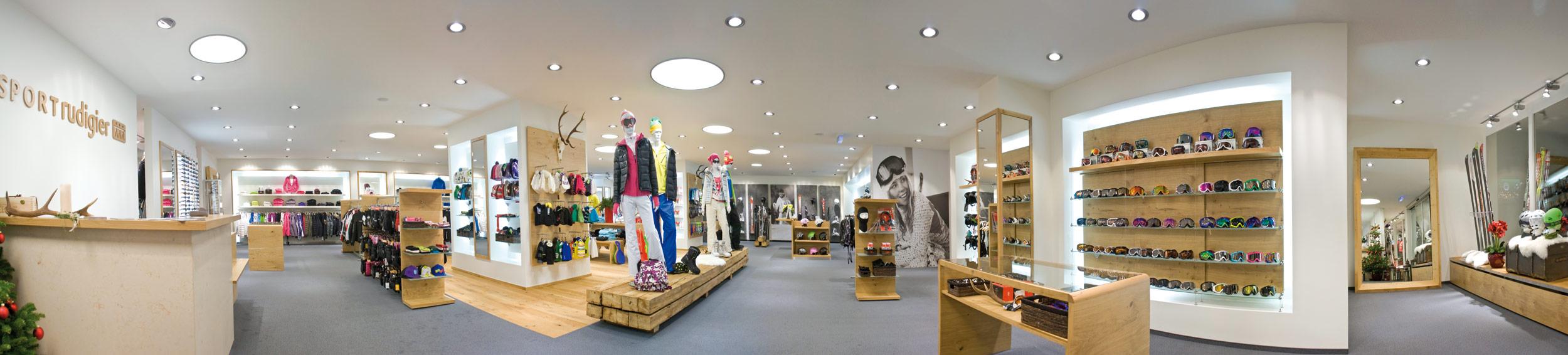 Shop Shopeinrichtung für Skiverleih und Skiverkauf