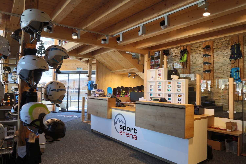 Shop-einrichtung und Shop-möbel für Ski-verleih