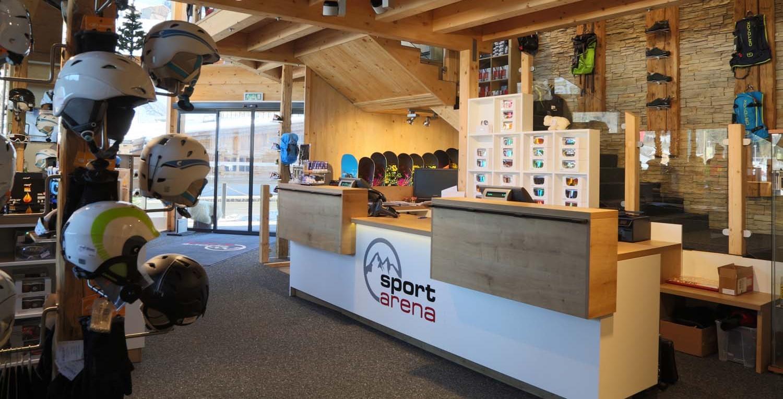 Geschäft-einrichtung shop-möbel für ski-verleih und winter-verkauf
