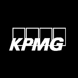 KPMG logo white
