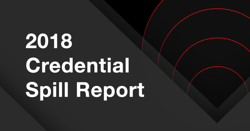 2018 Credential Spill Report