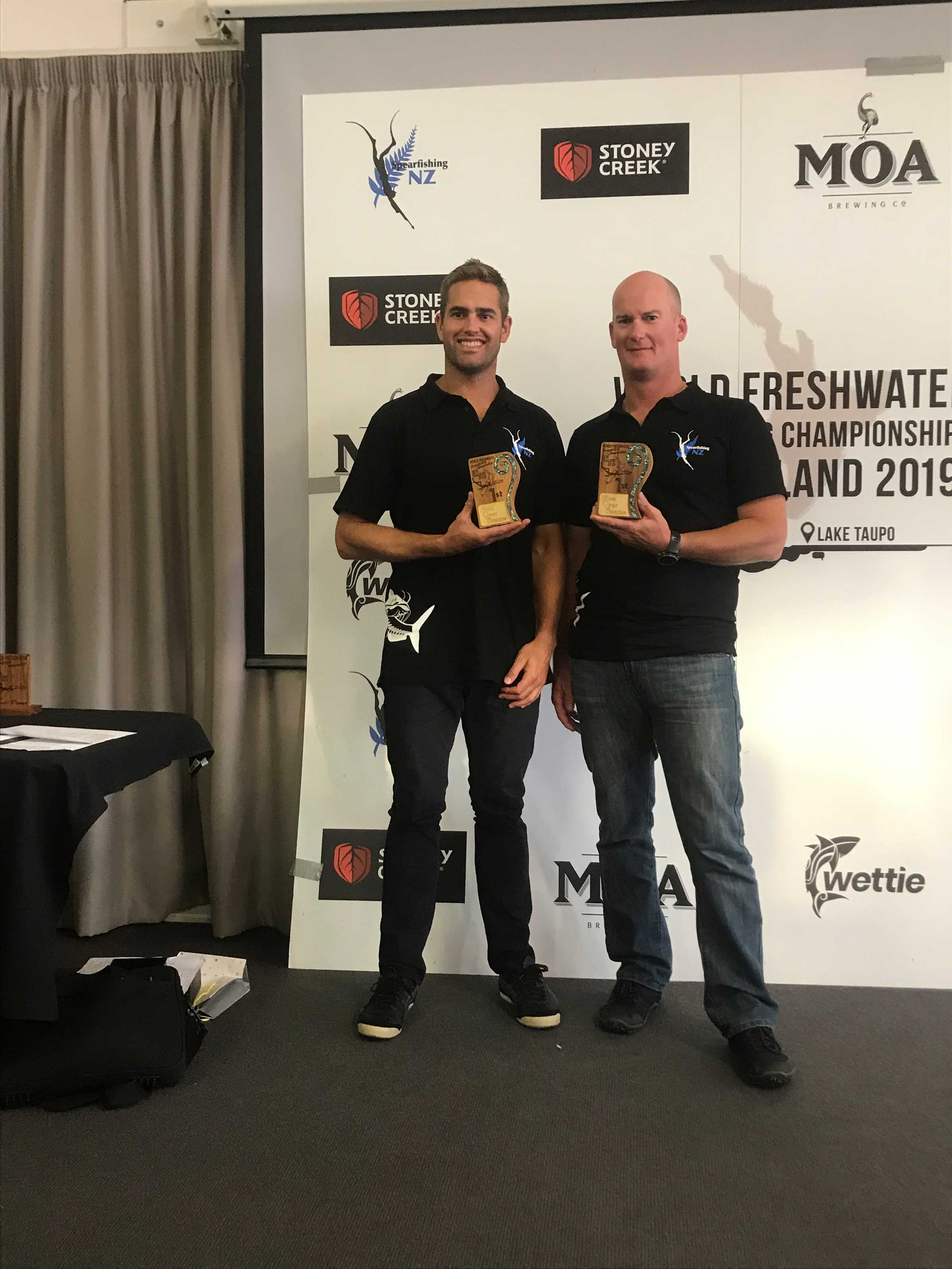 Moss Burnmester and Nat Davey: Recent Winners of World Freshwater Champs