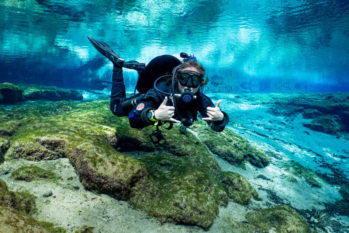Global Underwater Explorers NextGen Scholarship recipient