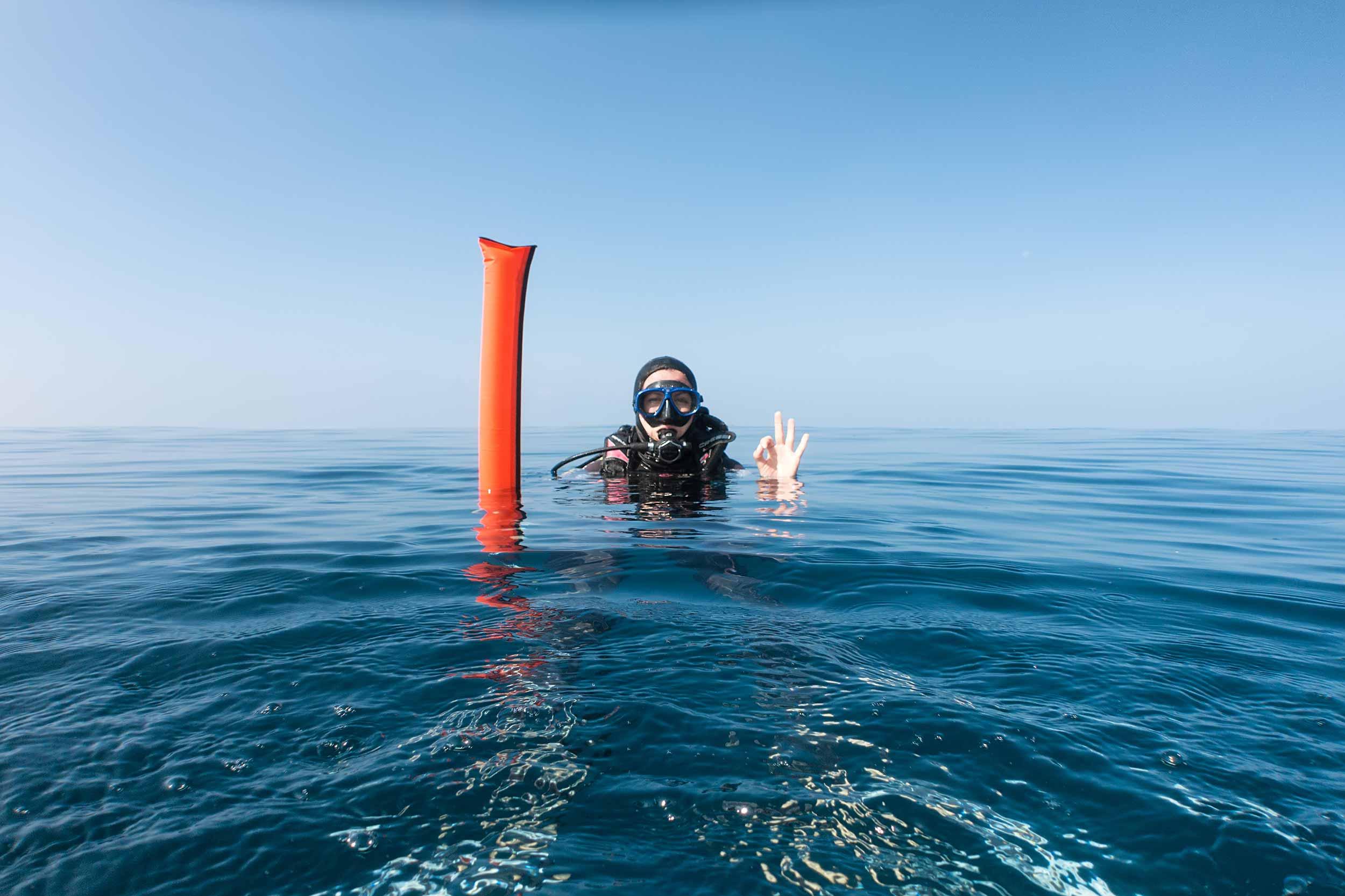 Diver signalling device