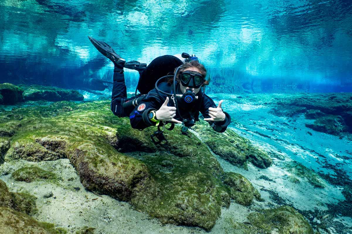Global Underwater Explorers NextGen Scholarship recipient