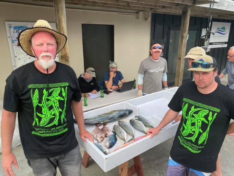 Image of open spearfishing championship event winners, Dwane Herbert and John Anderson