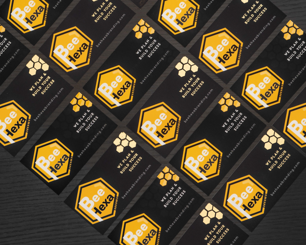 Business Card Bee Hexa Branding