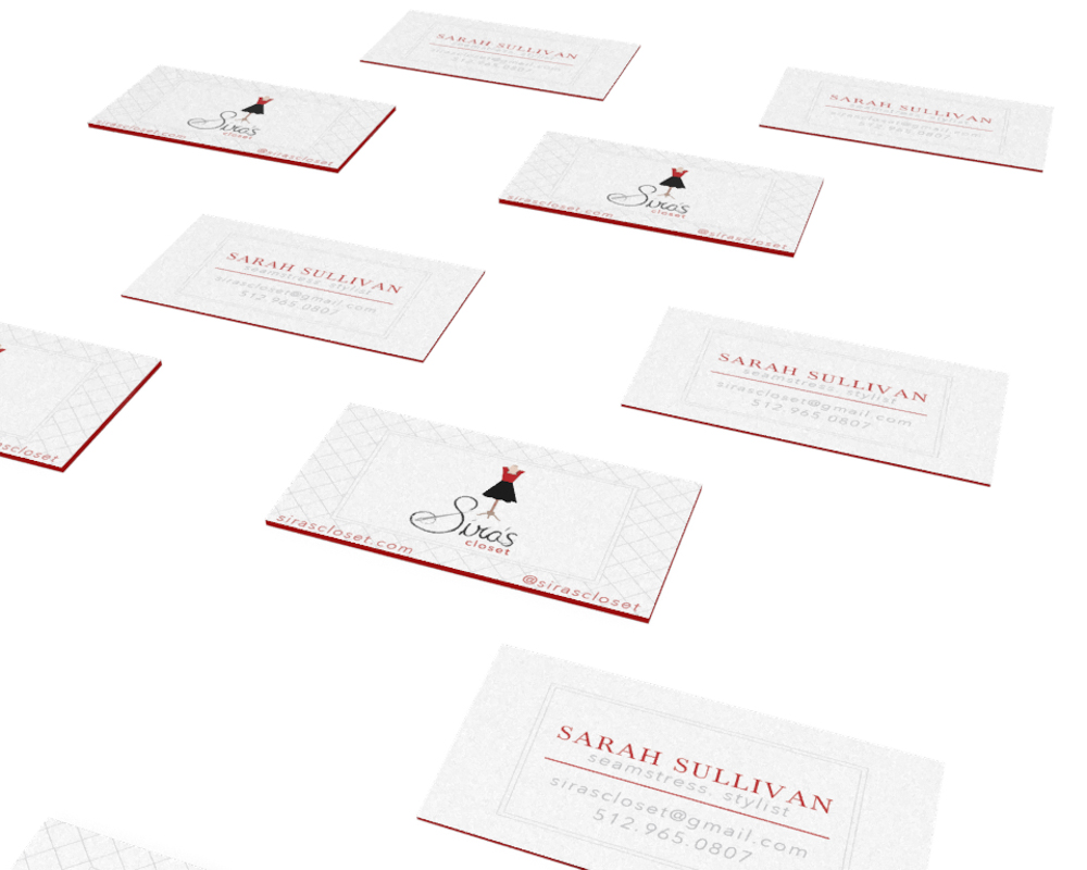 Business Card Siras Closet Boutique