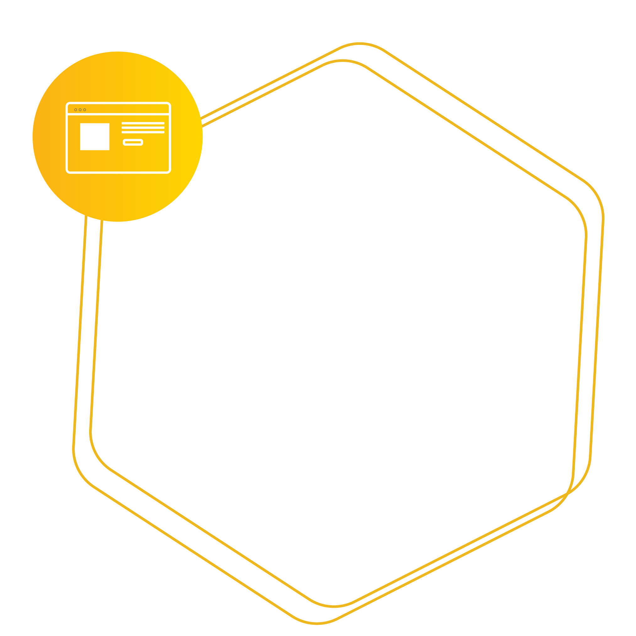 Hexagon placeholder for Web Design Development Services