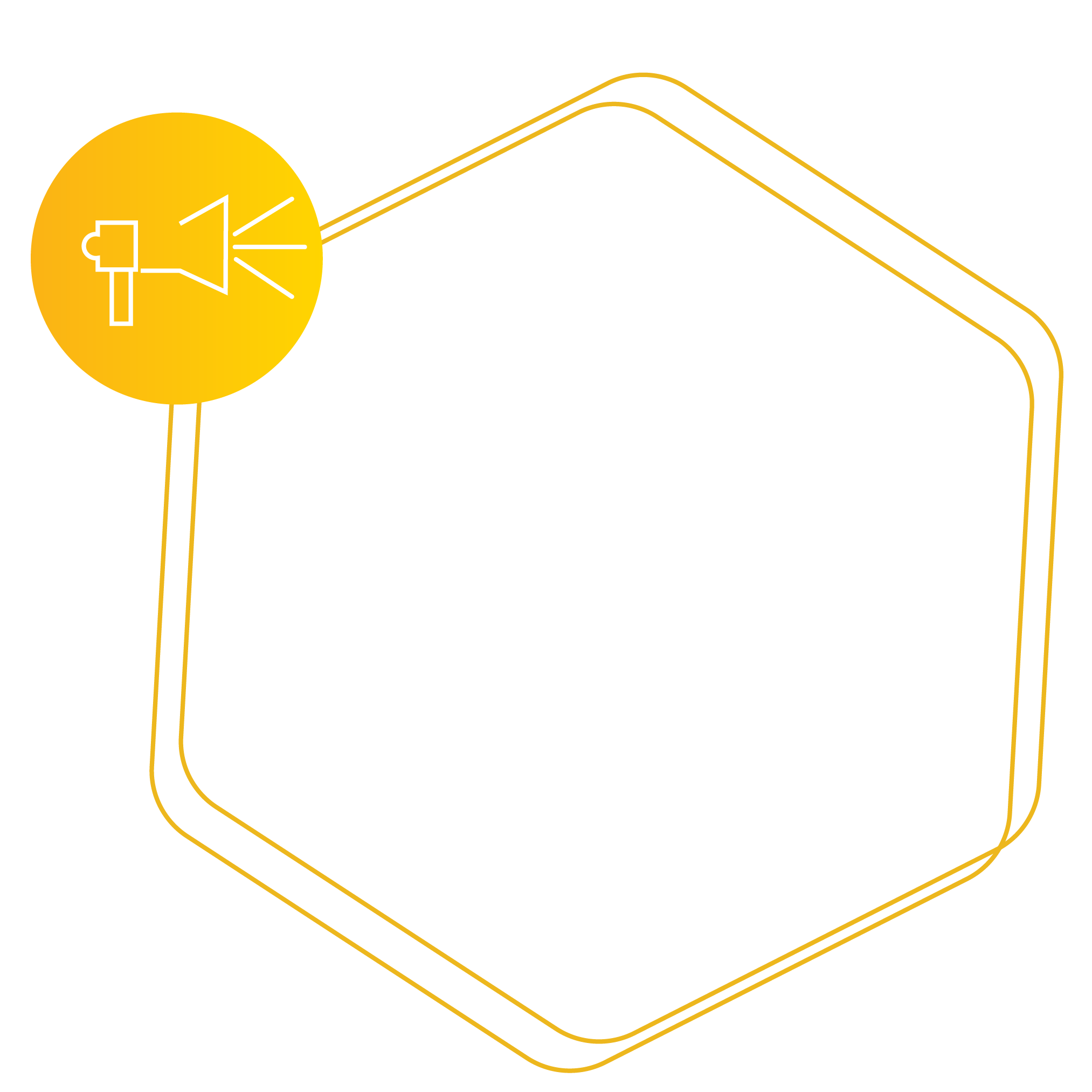 Hexagon placeholder for Advertising  Services