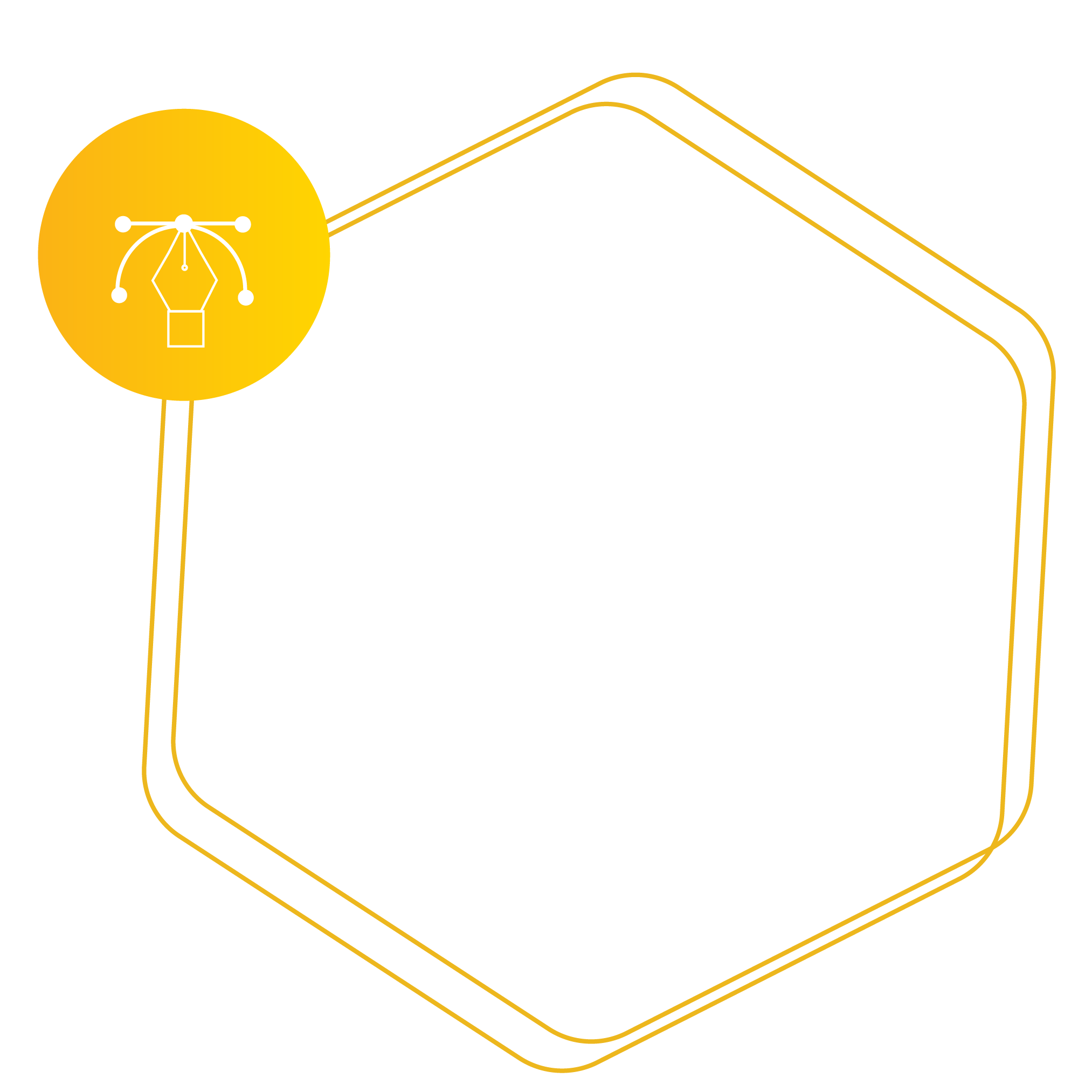 Hexagon placeholder for Graphic Design Services