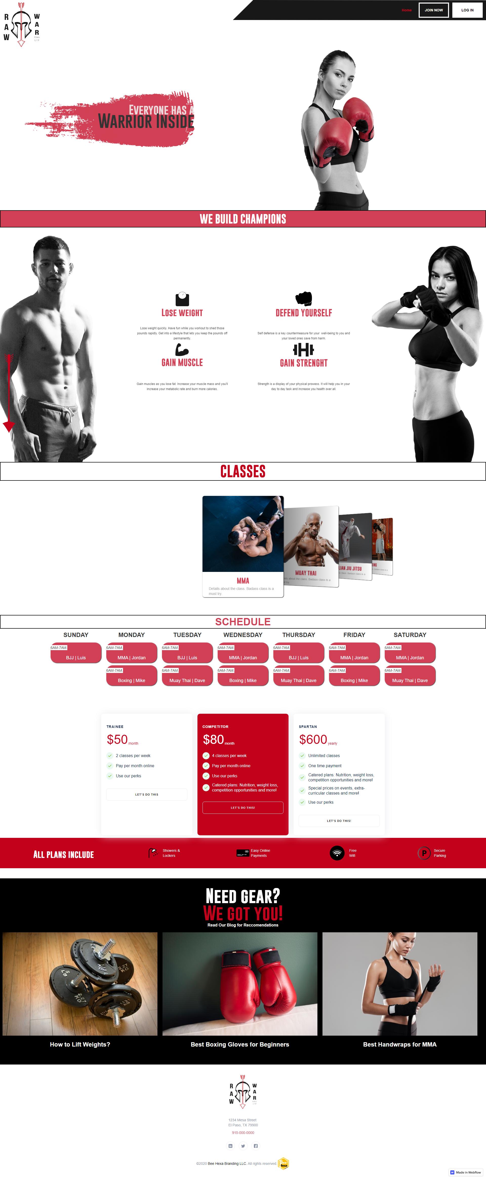Fitness Web Design Showcase