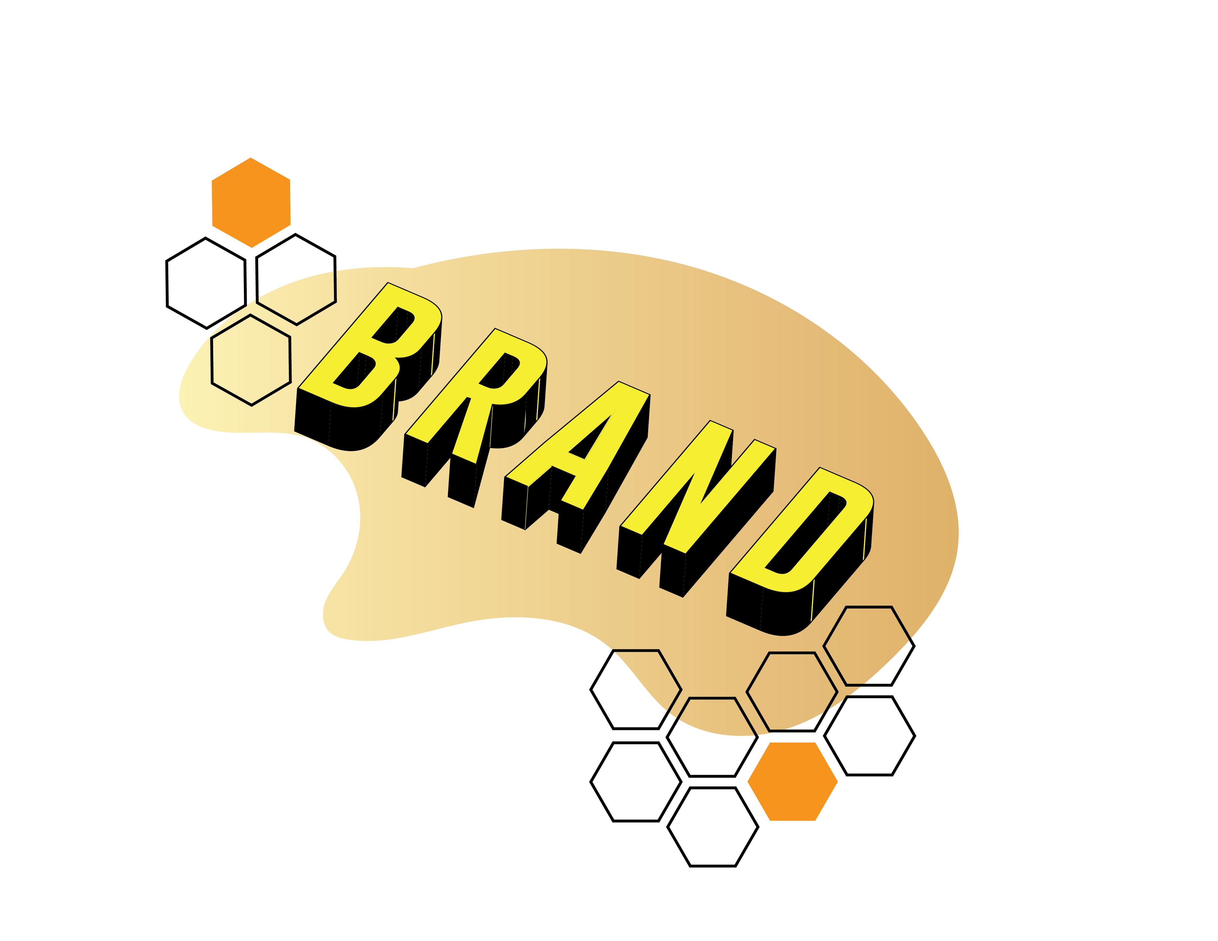 Graphic Design of the word Brand for services