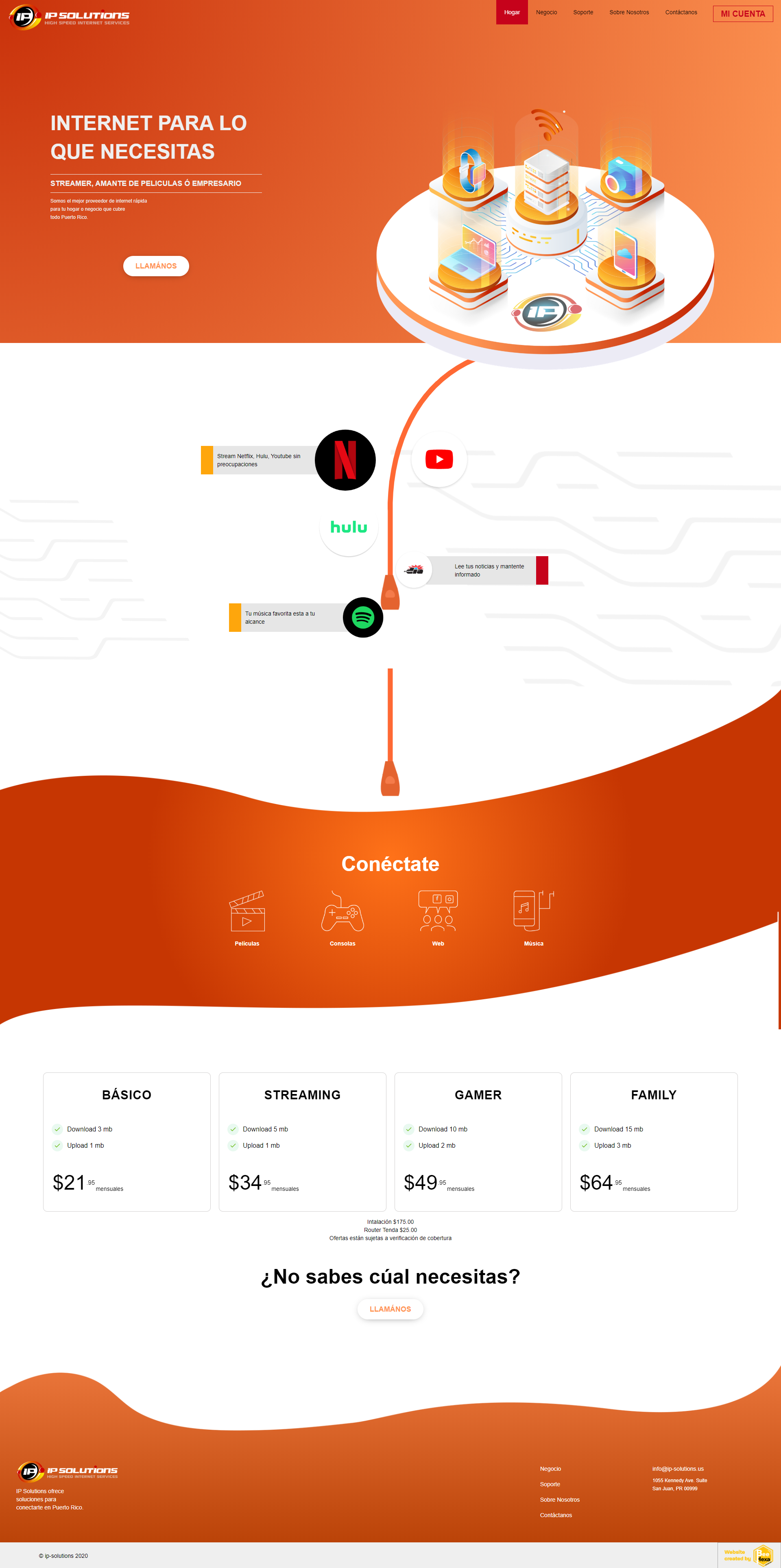 Portfolio Image of Service Internet Provider Web Design