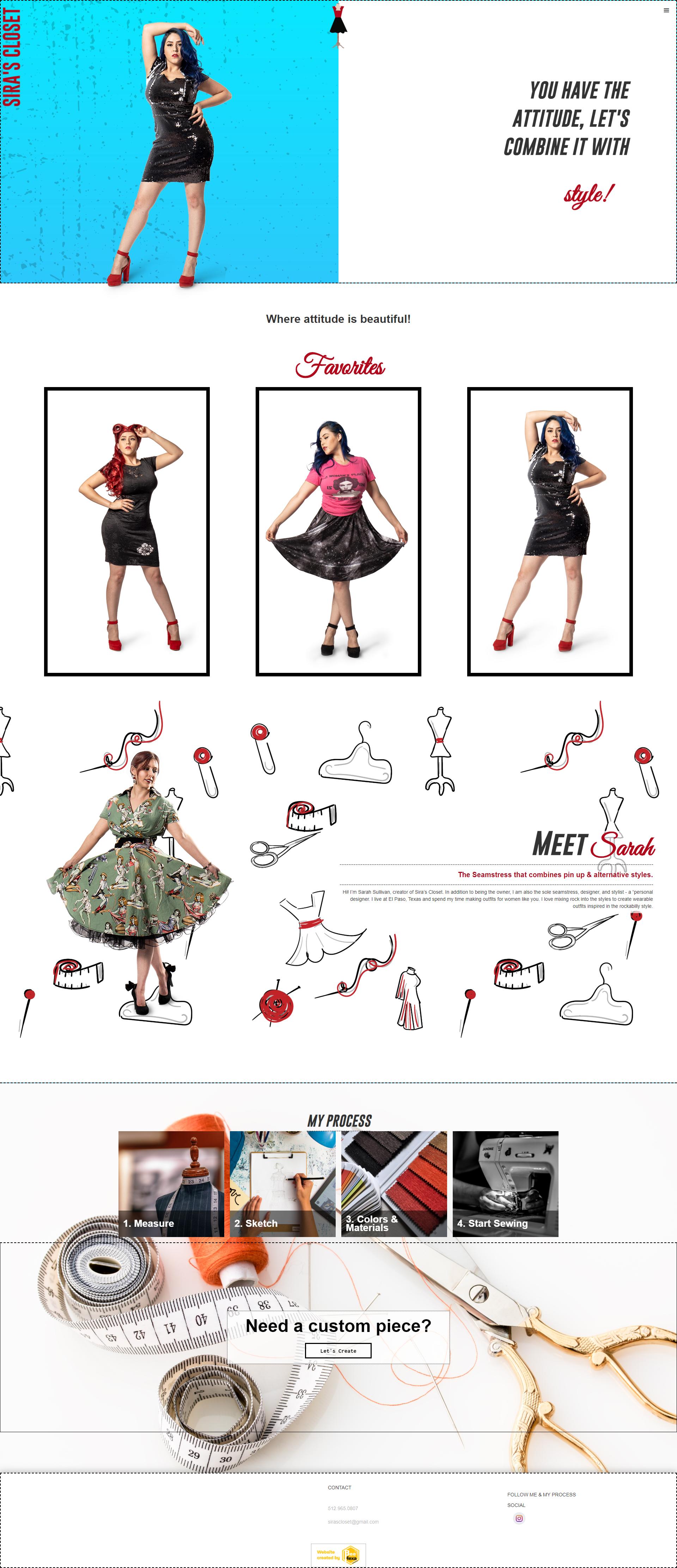 Portfolio Image of Service Fashion Designer Web Design