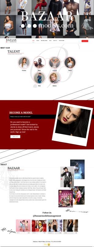 Portfolio Image of Service Modeling Talent Agency Web Design