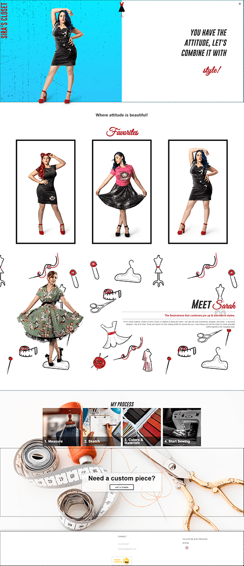 Portfolio Image of Service Fashion Designer Web Design